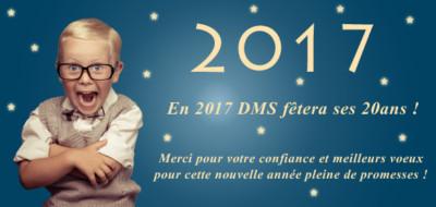 DMS vous souhaite ses meilleurs voeux pour 2017