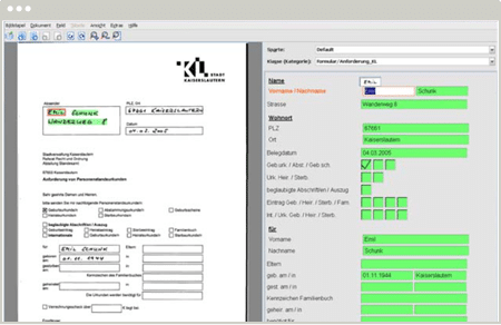 Ecran de validation DocXtractor