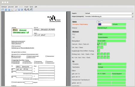 Ecran de validation DocXtractor