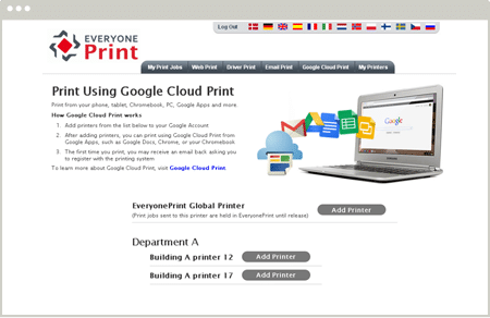 EveryonePrint Google Cloud Print